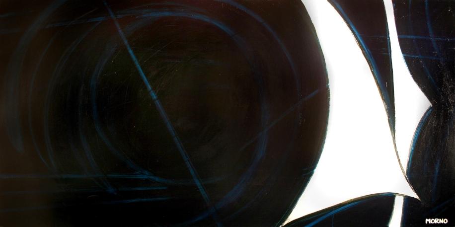 Pleine Lune 7 - Acrylique sur toile - 48 X 96 po - 2007