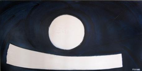 Pleine Lune 4 - Acrylique sur toile - 48 X 96 po - 2007