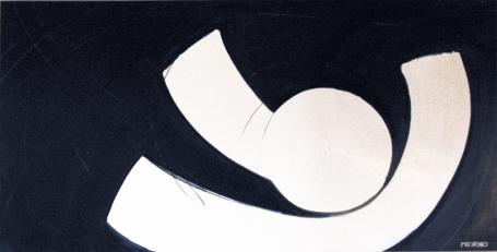 Pleine Lune 5 - Acrylique sur toile - 48 X 96 po - 2007